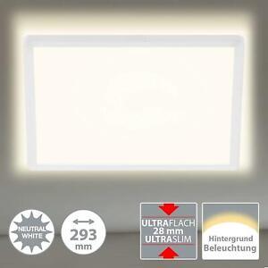 Deckenleuchte Briloner Slim LED mit Hintergrundlicht Deckenlampe
