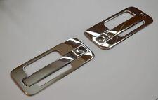 2 Set Mirror Stainless Steel Metal Handle Door Covers for Mercedes Axor Truck