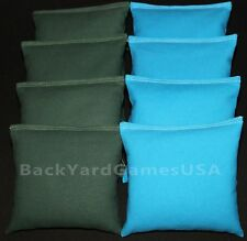 ALL WEATHER CORNHOLE BEAN BAGS Green & Turquoise Resin Filled WATERPROOF