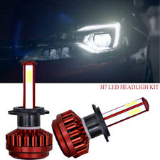 Pair H7 360W 6000K LED Headlight Conversion Bulb Light Lamp Kit Xenon White