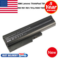 Laptop Battery For LENOVO ThinkPad T500 W500 R60 R61 T60P T61 40Y6795 41N5666