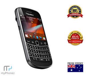 Original BlackBerry Bold 9900 - 8GB - Black Smartphone QWERTY Keyboard OZ Stock