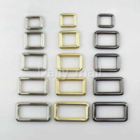 Rectangle Metal Belt Buckle Backpack Strap Buckles Bag Clasp DIY Leather Craft