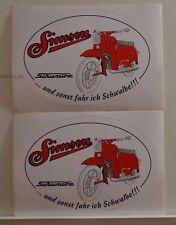 2 x schöner Aufkleber Simson Schwalbe oval