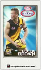 2007 Kraft Dairy AFL Action Heroes Card #13 Nathan Brown (Richmond)