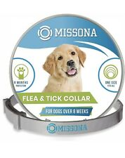 Dog Flea & Tick Collar Prevention for Dogs, Adjustable One Size Natural