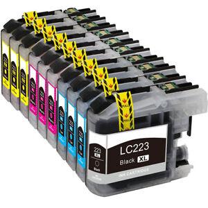 10x Druckerpatronen XXL für Brother MFC-J480DW MFC-J4620DW LC221 LC223 LC225 XL