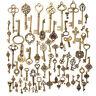Set of 70 Antique Vintage Old Look Bronze Skeleton Keys Fancy Heart BowPendantSY