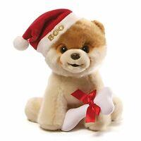 "Gund Boo Christmas Holiday Dog Stuffed Animal Plush, 9"" New Free Shipping"