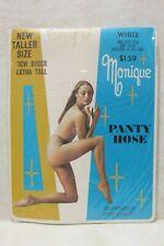 Vintage Monique Sheer White Extra Tall 5'5� - 6' Panty Hose Nos