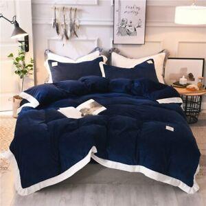 Bedding Set Crystal Velvet Bed Sheet Comforter Duvet Cover Bedspread Bedclothes