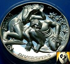 More details for belgium narcissus and echo european union high relief silver proof coin medal