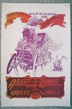 1975 GARRETT ASLEEP AT THE WHEEL GREEZY WHEELS MR NATURAL ARMADILLO  POSTER