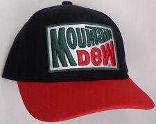 Hat Cap Licensed Mountain Dew Black Red CC