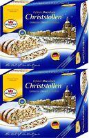 Dr. Quendt 2 x 500 g Original Dresdner Christstollen Rosinenstollen Stollen 1 kg