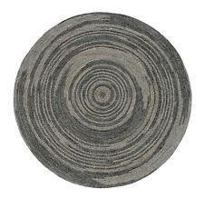 Natural Braided Round Jute Area Rag Rug Hardwood Floors Woven Fabric Rug