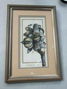 VICKI DEWSBURRY BANKSIA SERRATA BOTANICAL INK & HAND COLOURED ART SIGNED