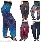 Harem Pants, Baggy One Size Rose Hippie Pants, Unisex,Yoga, Maternity, Boho