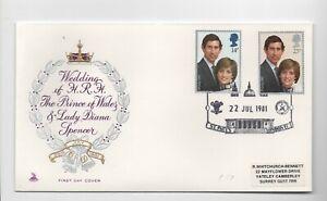 Great Britain 1981 Royal Wedding Mercury FDC St Pauls pmk