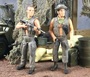 "21st Century Toys Ultimate Soldier Vietnam Tank Crew 1:18 3.75"" Lot of 2"