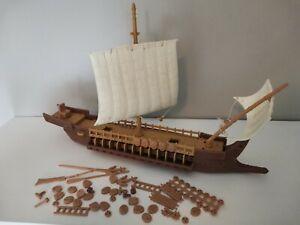 Galère grecque soldats anciens atlantic antiquité figurines 1/72 vintage