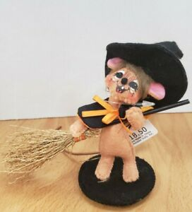 """ANNALEE HALLOWEEN 3"""" CHECKER DOT WITCH MOUSE #300015 2015"""