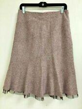 Anthropologie Elevenses Purple Wool/Silk Blend Skirt Size 8 $158 NWT