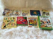 Lot Of 9 Board & Hardcover Counting Books Sesame St /Scarry/Disney /Vintage
