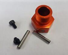Used 1/5 Baja 5B Alloy Rear Wheel Hex W/ Pins Screws Orange OZRC Models