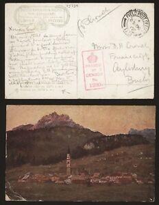 GB WWI 1917 - Field Post Postard Asiago Italy - Censor V301
