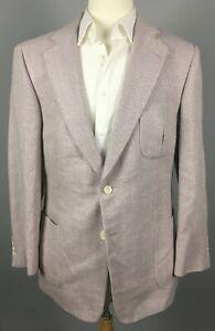 NWT Paul Stuart Stuart III Silk Herringbone Sport Coat 42 L Light Purple $1,184