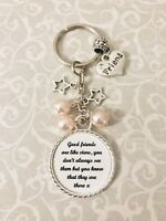 Friends Are Like Stars Gift Present Keyring Bag Charm Beads Special Keepsake