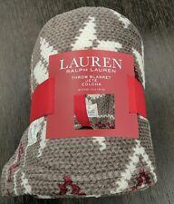 "Ralph Lauren Throw Blanket 100% Polyester Jete' Colcha 60"" x 70"" Southwestern"
