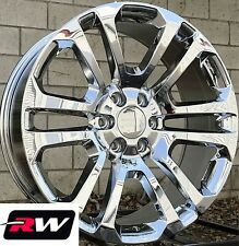"22"" inch 22 x9"" Wheels for Chevy Avalanche Chrome Rims CK158"