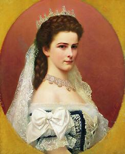 Empress Elizabeth of Bavaria in Hungarian Canvas Print