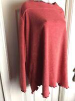Roaman's Women Sweater Fleece Tunic Coral Boat Neck-PLUS SIZE 3X