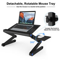 Adjustable Folding Laptop Notebook Table PC Desk Bed Computer Tray Stand Black