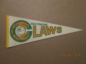 ABA Baltimore Claws Vintage Defunct Circa 1975 Team Logo Basketball Pennant