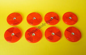 8 x 60mm Red Hi-Intensity Reflectors for gatepost caravans trailers horseboxes