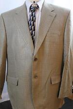 Men's IZOD Blazer Browns Houndstooth Check ALL SILK Sport Coat Suit Jacket 44R