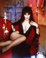 ELVIRA SIGNED AUTOGRAPHED 8x10 PHOTO MISTRESS OF THE DARK RARE BECKETT BAS