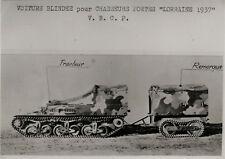 PHOTO ANCIENNE - VINTAGE SNAPSHOT - MILITAIRE TRACTEUR CAMION DOCUMENT PHOTO 1