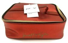 Kendall & Kylie Faux Snakeskin Shiny Red Brush Holder Makeup Purse Pouch Case