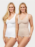Vercella Vita Medium Control Lace Pattern Cami Pack of 2 Size Medium New