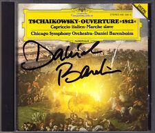 Daniel BARENBOIM Signiert TCHAIKOVSKY 1812 Capriccio Italien Marche slave DG CD
