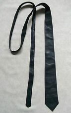 Skinny Tie Vintage Leather MENS Slim Jim Necktie Retro NAVY BLUE