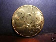 San Marino 200 Lire 1991  FDC (UNC) Prima moneta 1864
