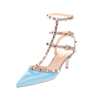 RRP €165 CARPE DIEM SYLT Leather Ankle Strap Shoes EU41 UK8 US11 Pyramid Studs