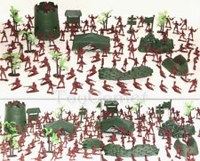 133 pcs Military Base Model Toy Soldier Red 4cm Figure Army Men Playset