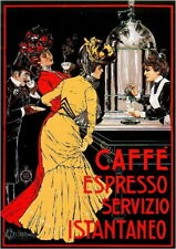 94182 Early 1900's Caffe' Espresso Food & Wine Decor LAMINATED POSTER FR